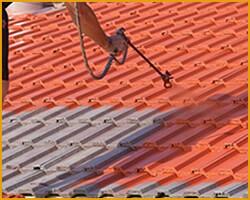 Couvreur peinture toit tuile entretien toiture montpellier - Peinture pour toiture tuile beton prix ...